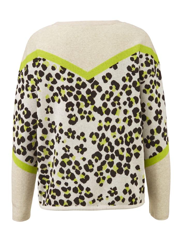 Pullover mit großem Kragen