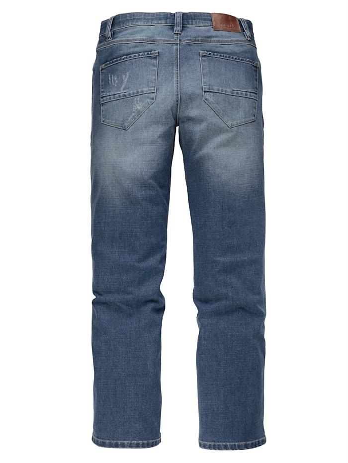 Jeans med extra vidd över magen
