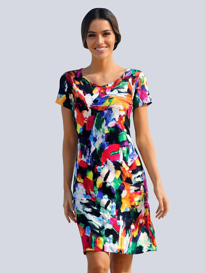 Alba Moda Strandkleid in Buntstiftfarben, Multicolor