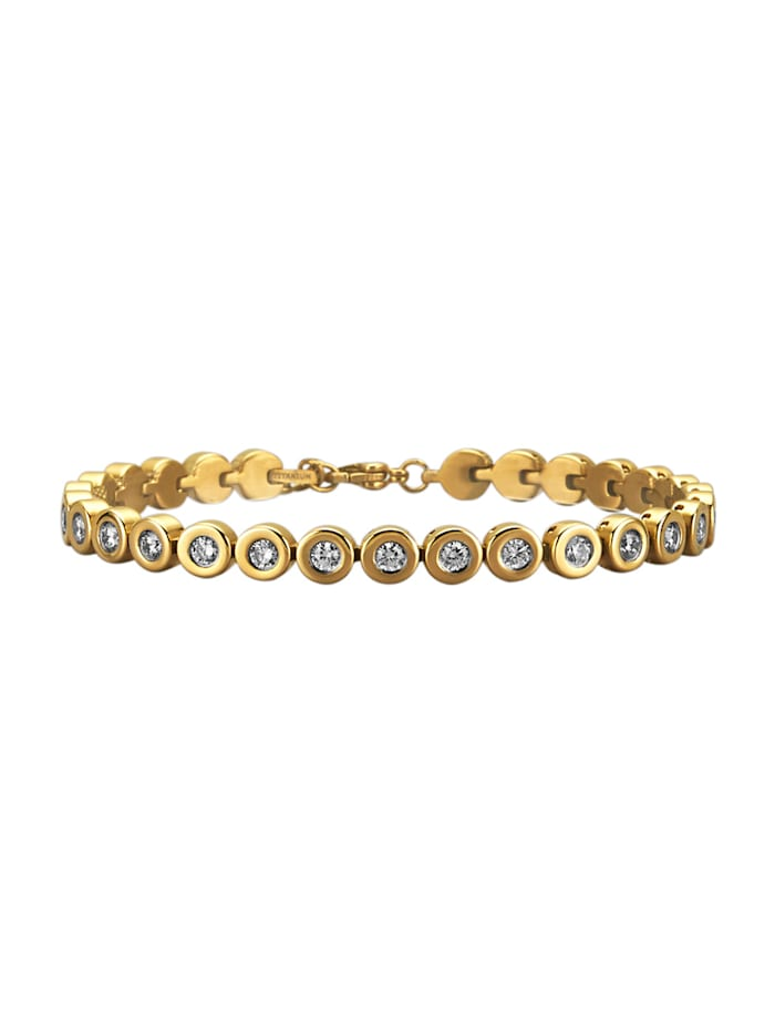Bracelet en titane, Coloris or jaune