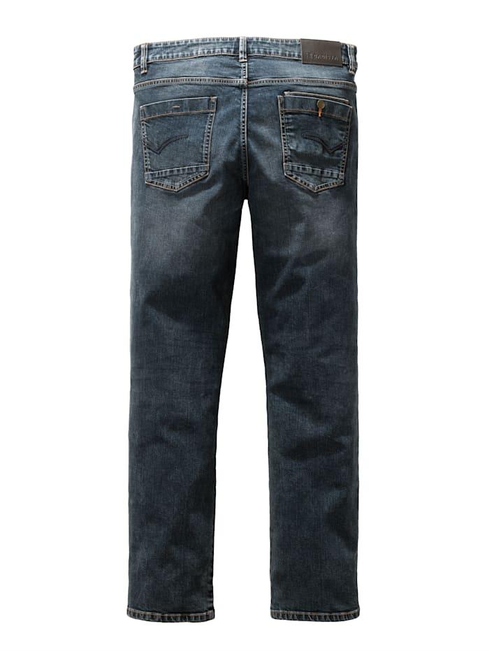 Jeans met modieuze washed effecten