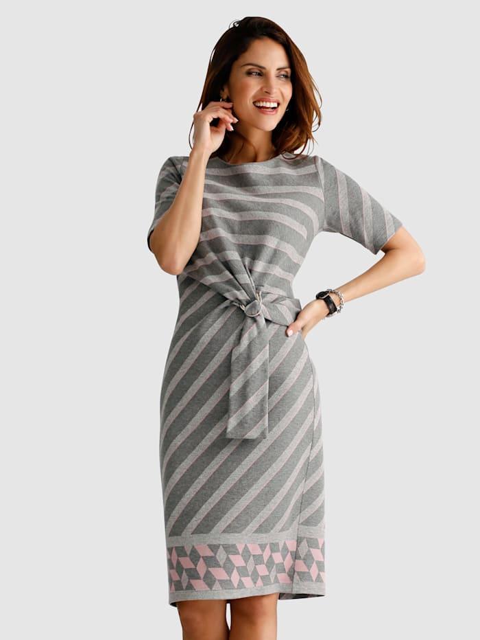 Jerseykleid in Feinstrick-Optik