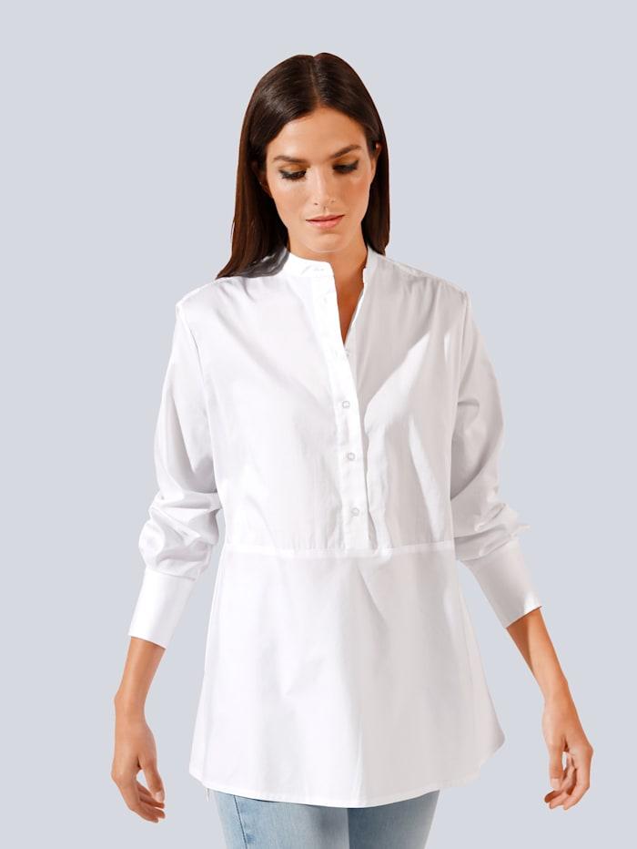 JETTE JOOP Bluse mit Schößcheneffekt, Weiß