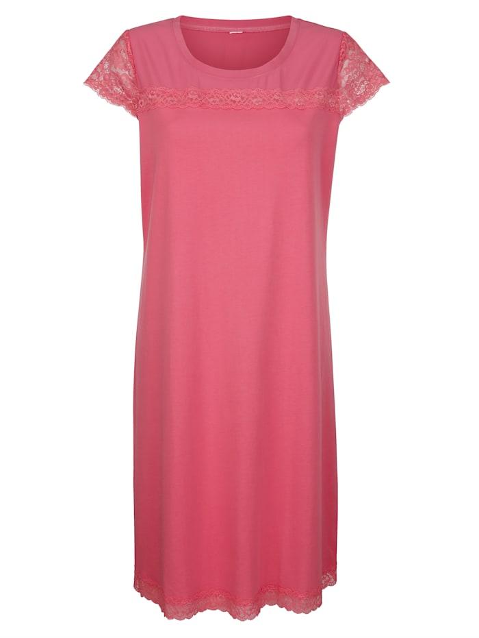 Simone Nachthemd mit modischen Chiffoneinsatz, koralle
