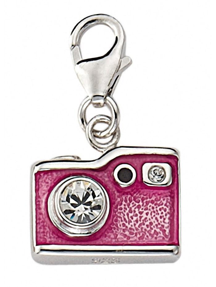 1001 Diamonds Damen Silberschmuck 925 Silber Charms Anhänger Fotoapparat mit Zirkonia, silber