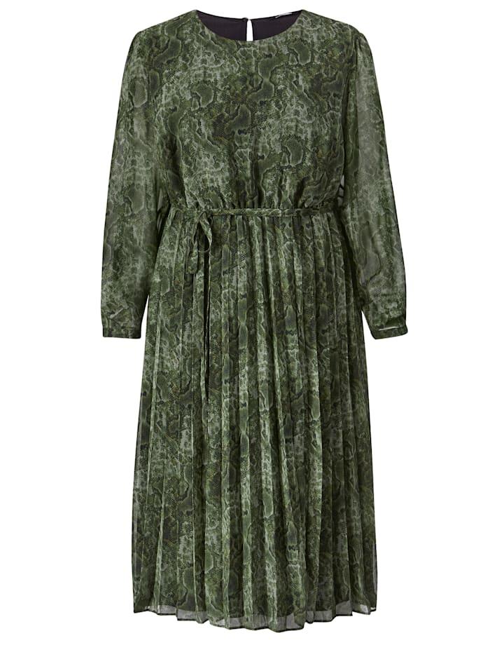 Robe longue avec jupe effet plissé