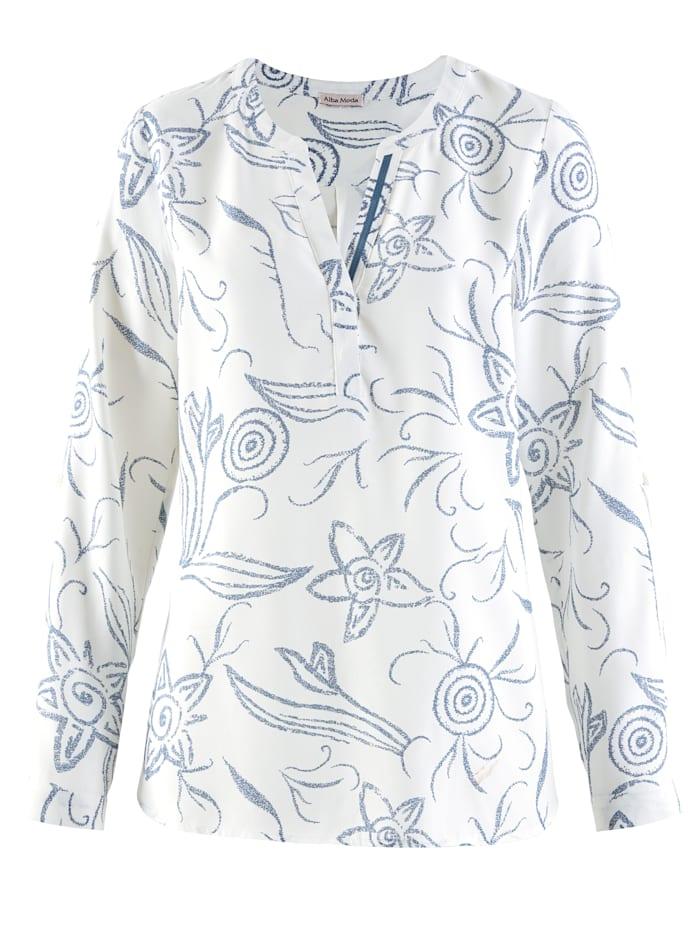 Bluse im floralen Dessin