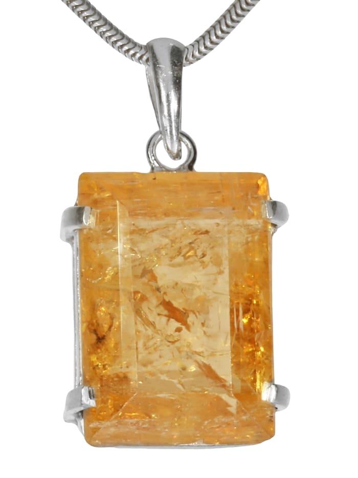 1001 Diamonds Damen Schmuck Edelstein Goldtopas Anhänger 925 Silber gelb, gelb