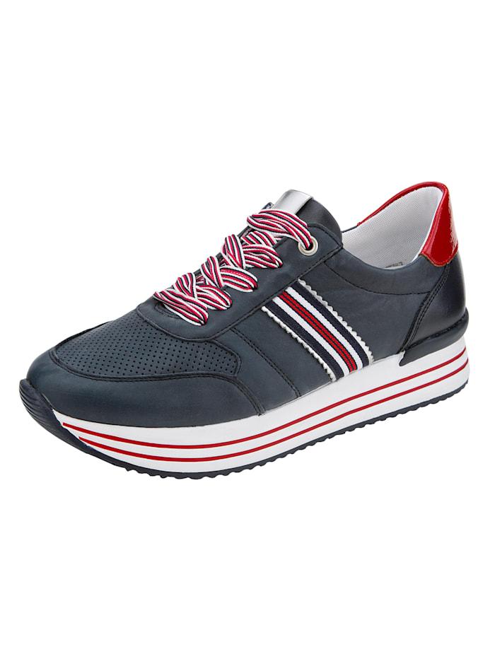 Remonte Sneaker met perforaties in het blad, Marine