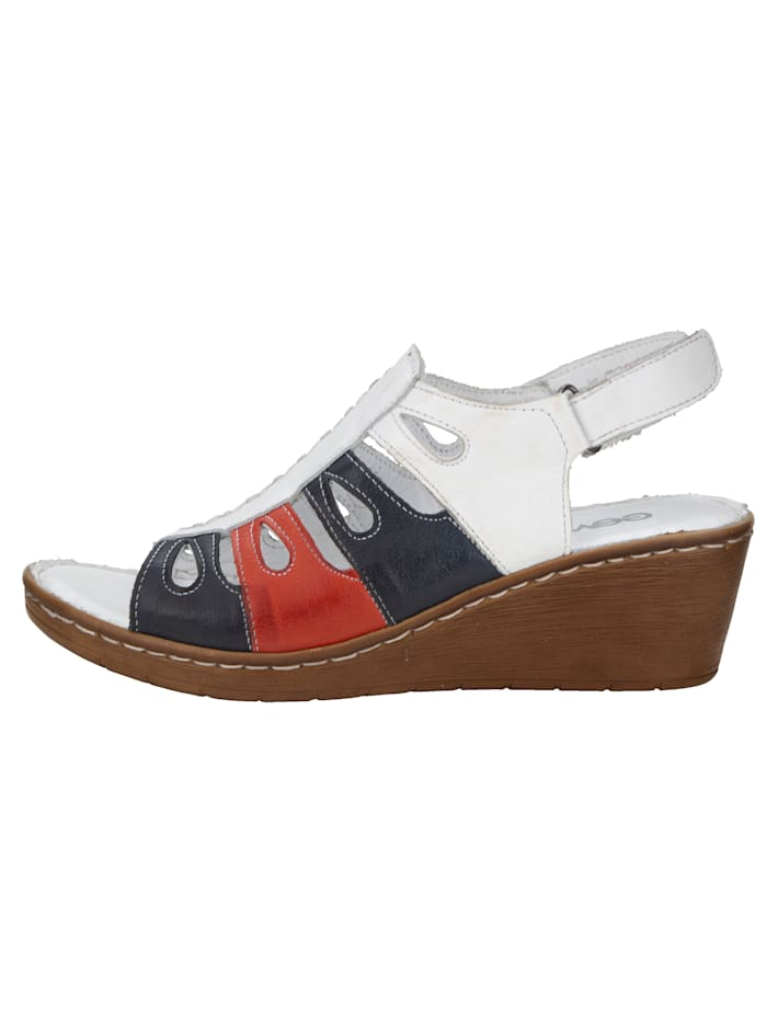 Wedge sandals in complementary colours