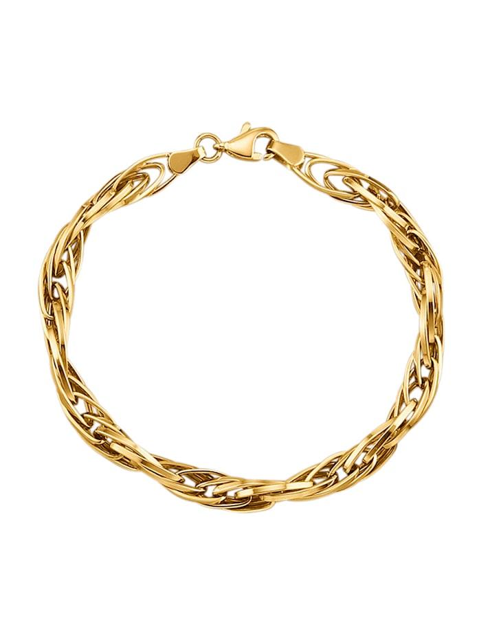 Diemer Gold Doppelankerarmband in Gelbgold 750, Gelbgoldfarben