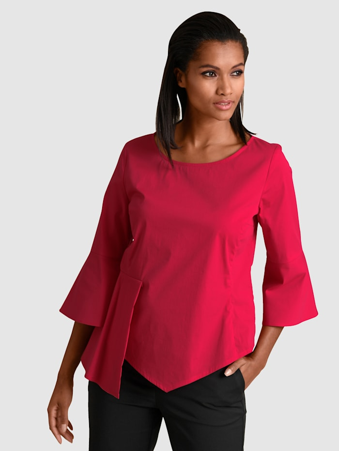 Alba Moda Blouse à volants, Rouge