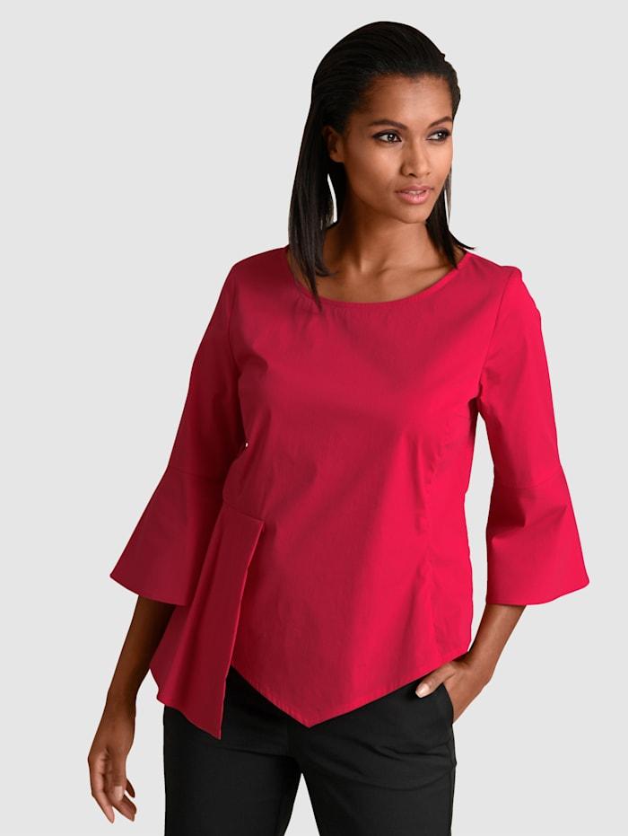 Alba Moda Blus med asymmetrisk detalj, Röd