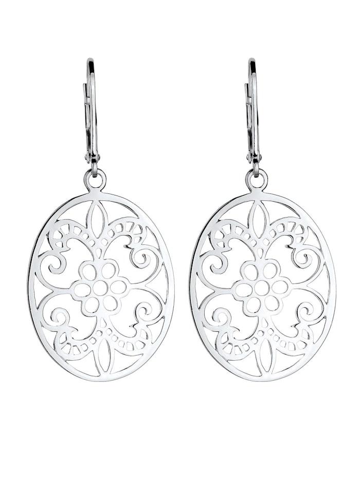 Ohrringe Ornament Floral Orientalisch 925 Sterling Silber