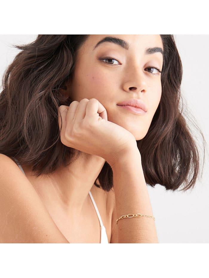 Ania Haie Damen-Armband Figaro Chain 925er Silber
