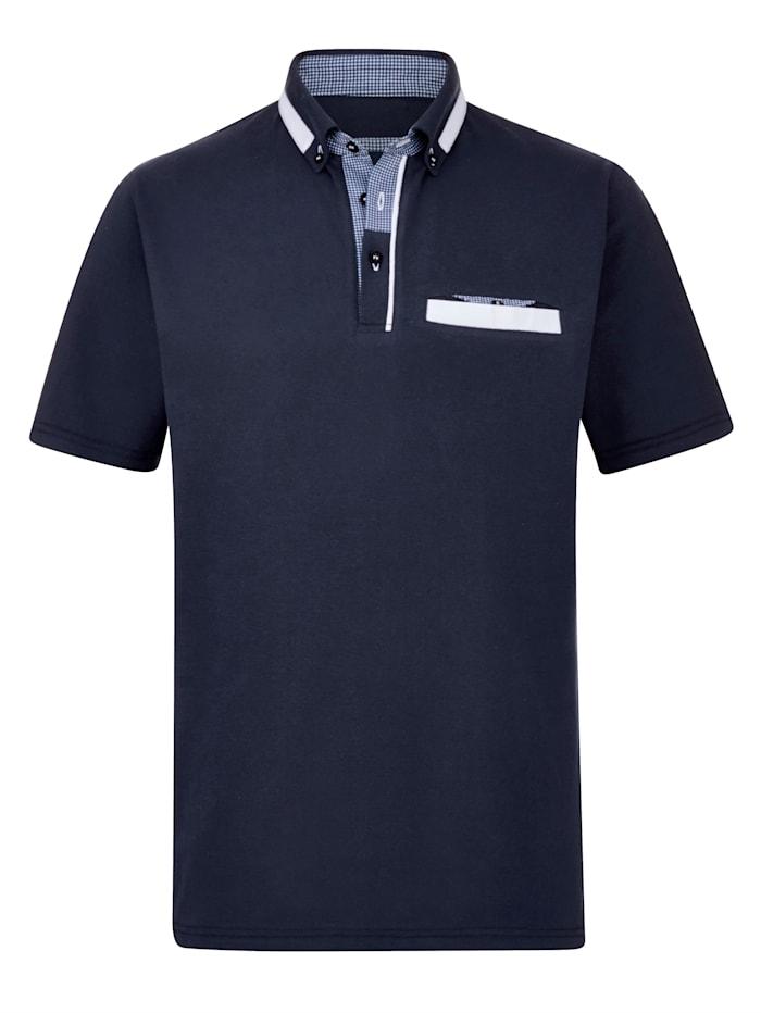 BABISTA Polo tričko s rafinovanými detailmi, Námornícka