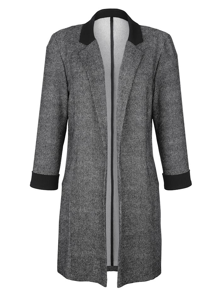 Longline blazer with a minimal pattern