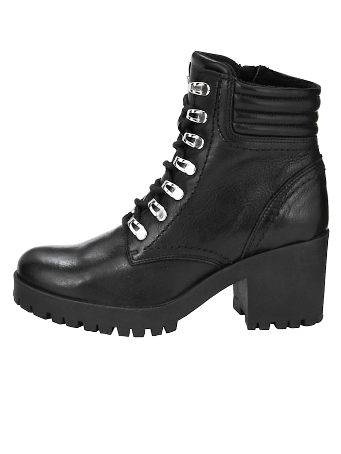 Lace-up Boots in a biker style
