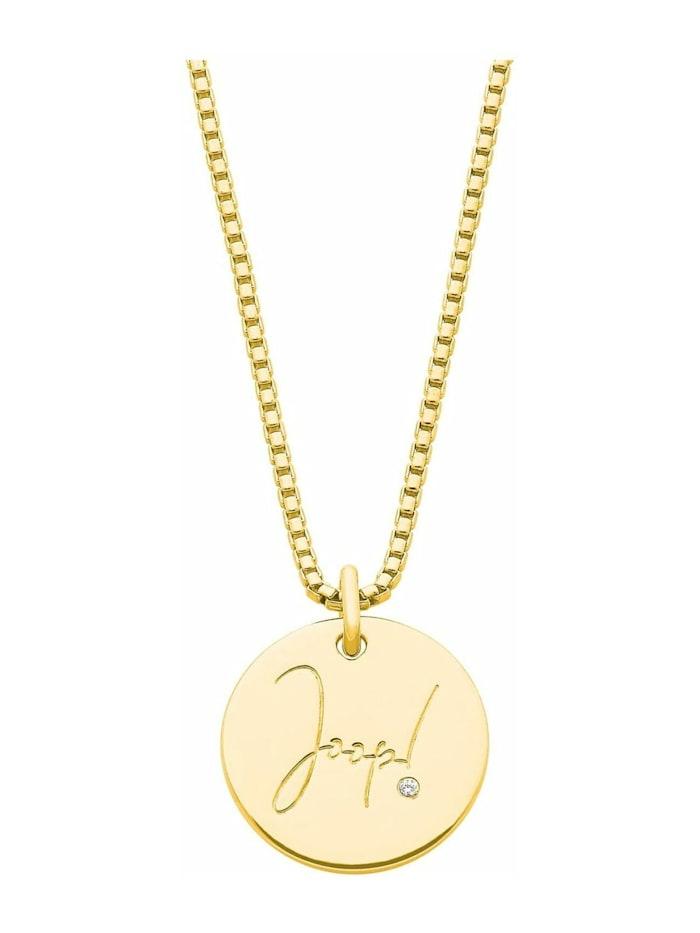 JOOP! Kette mit Anhänger für Damen, Sterling Silber 925, Gold