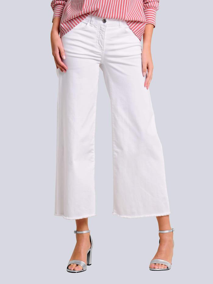 Alba Moda Džínsy s rozšíreným ukončením, Prírodná biela