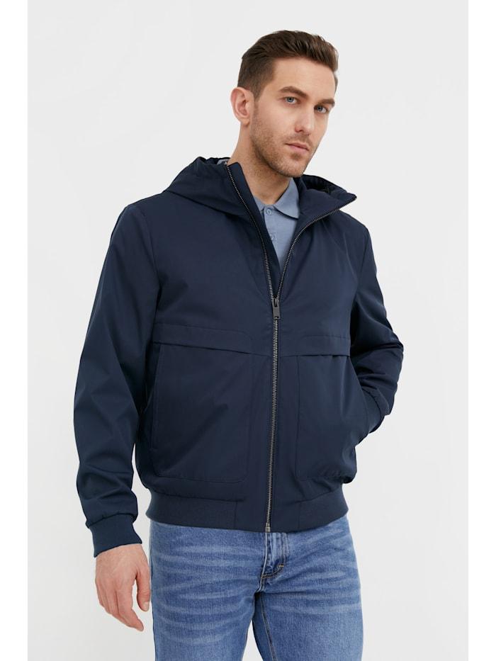 Finn Flare Leichte Jacke - mit warmer Kapuze, dark blue