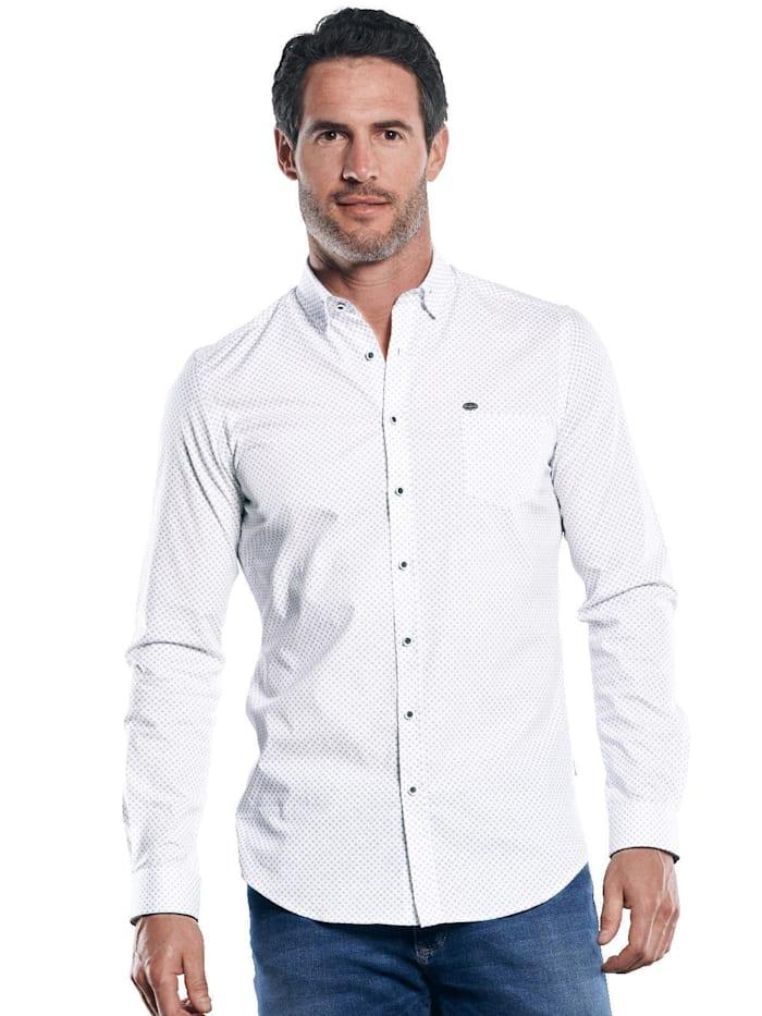 Engbers Comfort Stretch Hemd mit Print, Saphirblau
