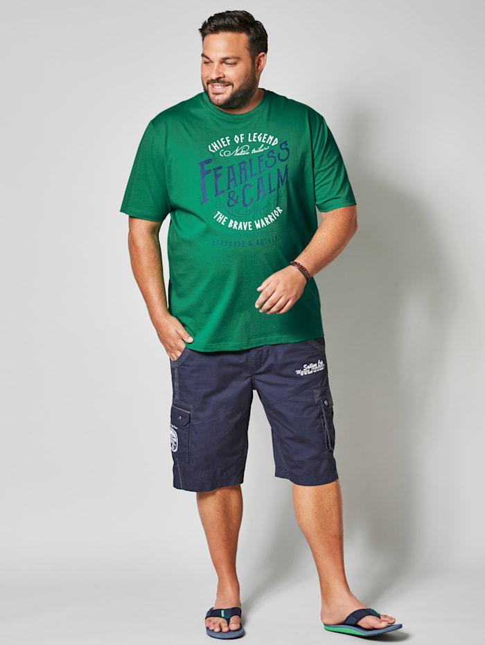 T-Shirt mit plaziertem Print