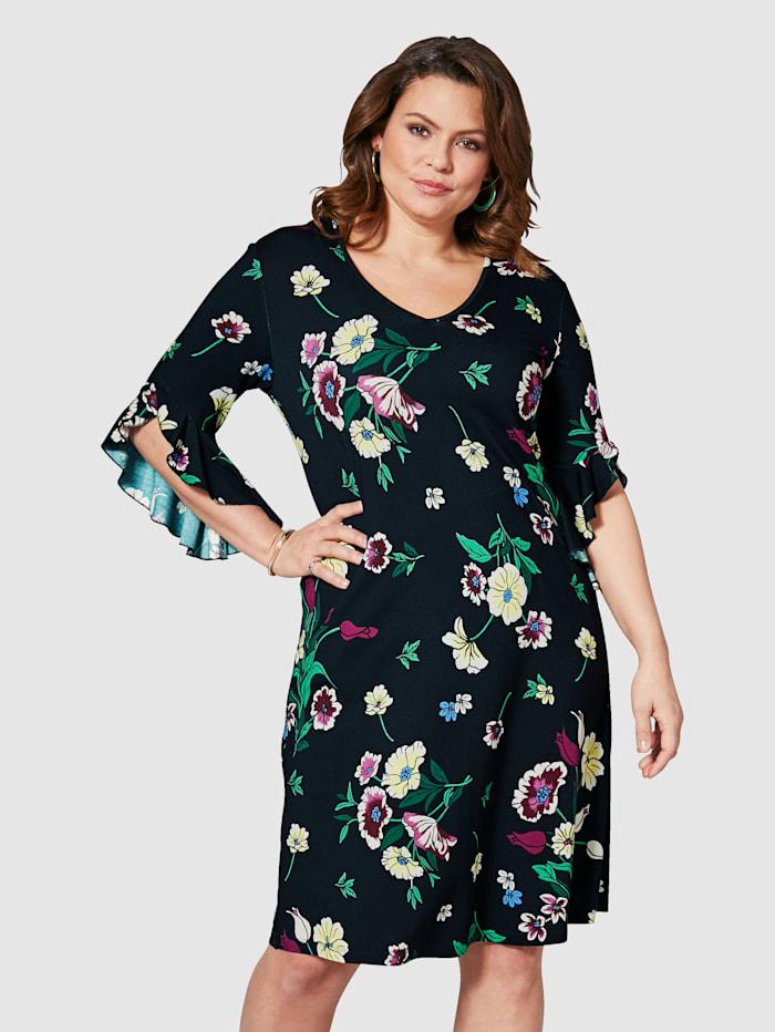 Jersey-Kleid mit Blumen-Print