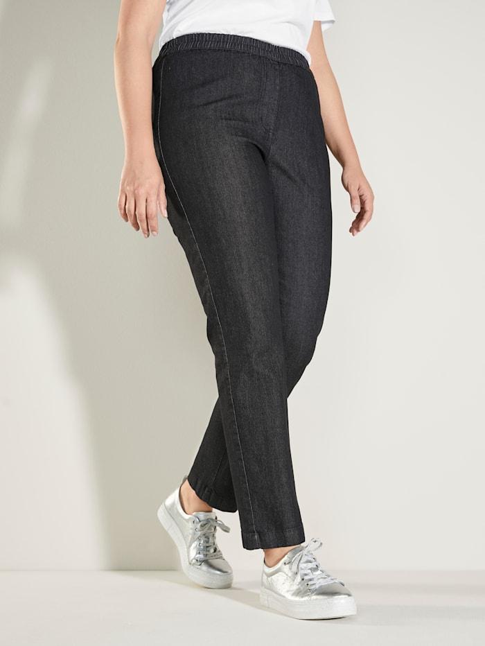 MIAMODA Jeans mit bequemem Dehnbund, Black stone