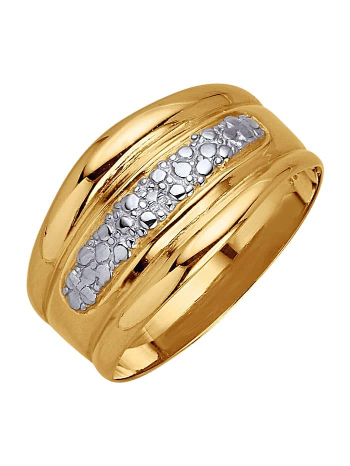 Schlangen-Ring mit Rubin, Gelbgoldfarben