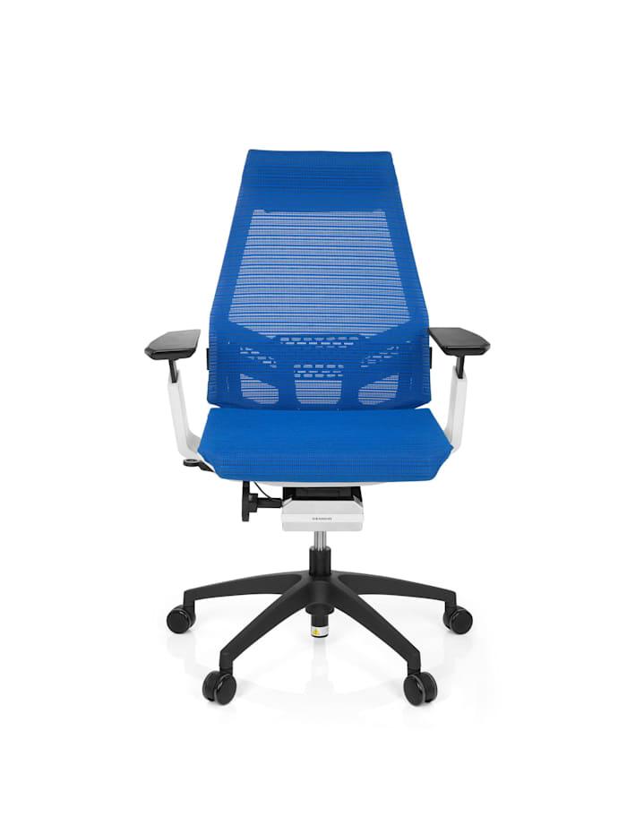 hjh OFFICE Profi Bürostuhl GENIDIA SMART WHITE, Blau / Weiß