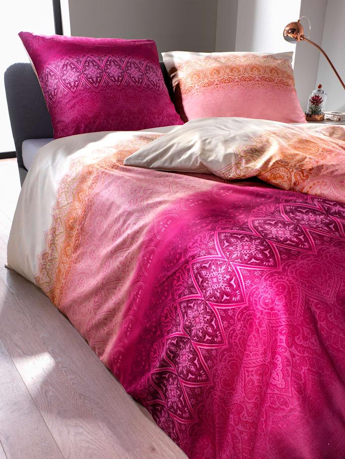 Kaeppel Mako Satin Bettwäsche 'Crystal' 2tlg., pink