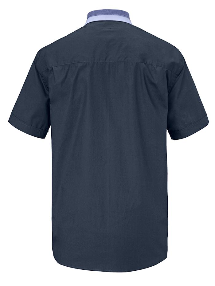 Overhemd met bicolor kraag