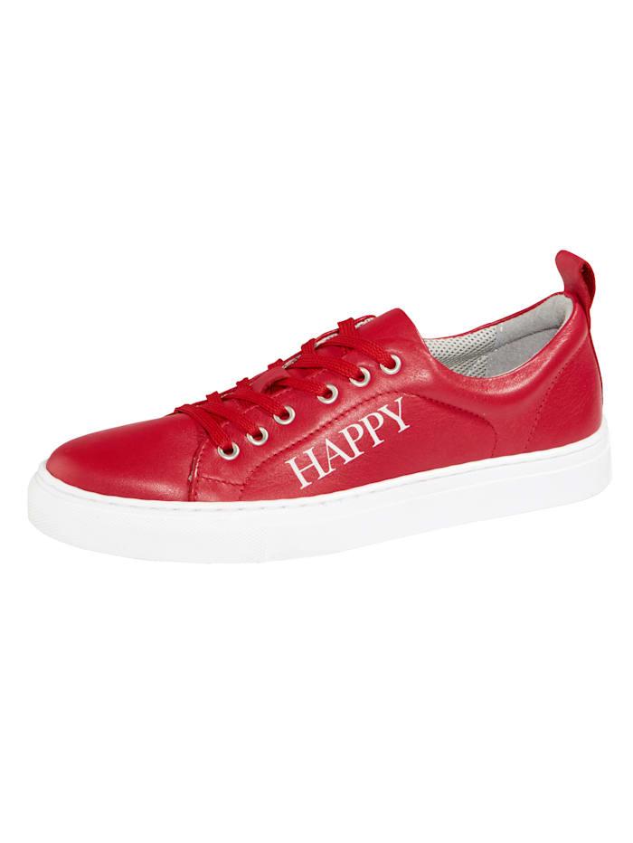 Filipe Shoes Plateausneaker mit modischem HAPPY-Schriftzug, Rot