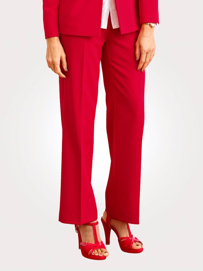 MONA Pantalon à jambe ample, Rouge