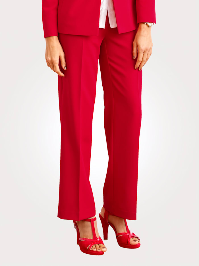 MONA Trousers with a wide leg cut, Red