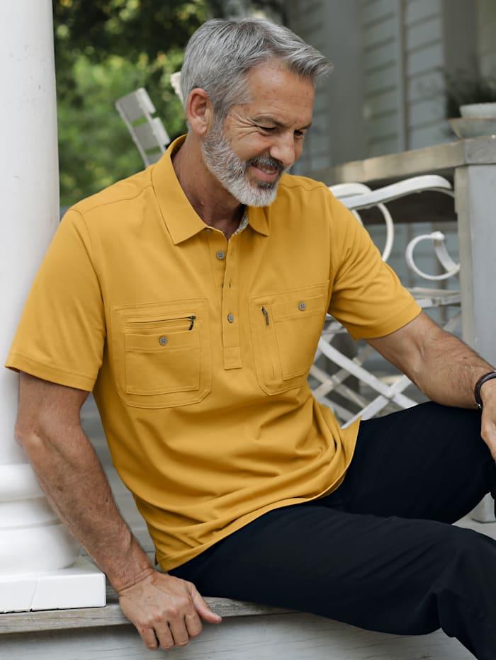 BABISTA Reise-Poloshirt mit praktischen Brusttaschen, Gelb