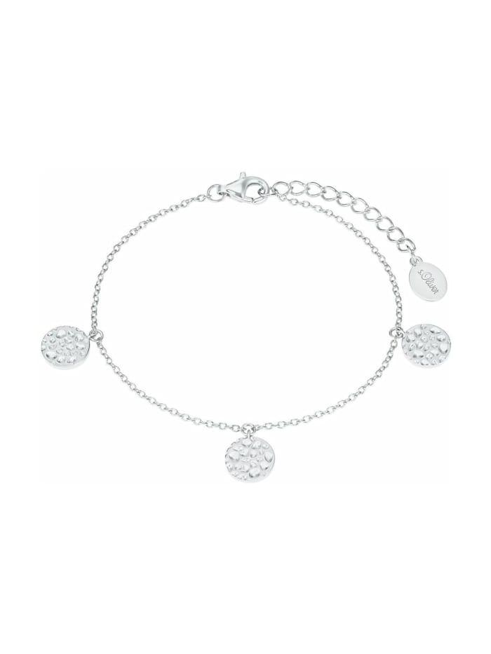 s.Oliver Armkette für Damen, Sterling Silber 925, Silber