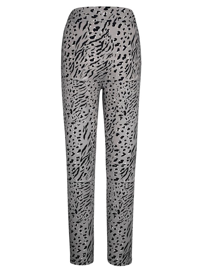 Pantalons de loisirs avec pierres scintillantes fantaisie côté