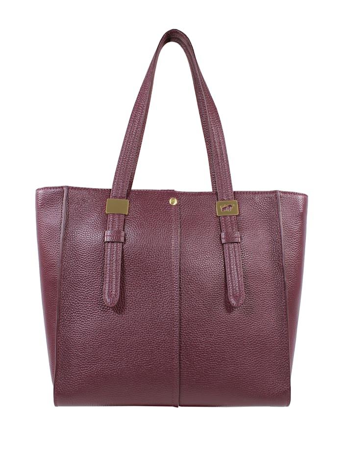 Braun Büffel Handtasche ASTI aus weichem Rindleder, mauve