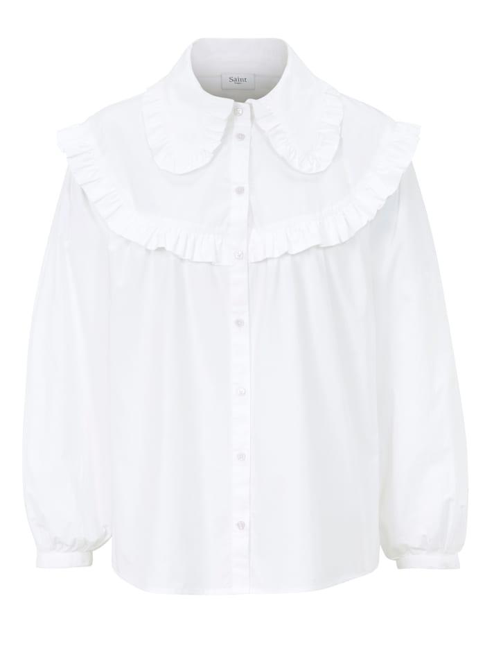 SAINT TROPEZ Bluse, Off-white