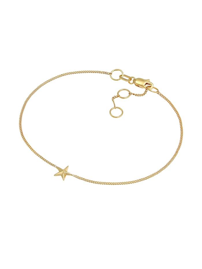 Armband Stern Star Strahlen Himmlisch 375 Gelbgold