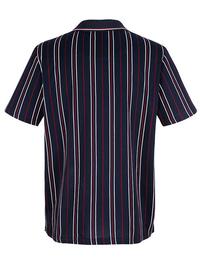 Poloshirt mit Druckmuster rundum