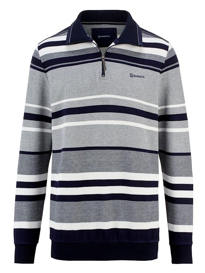 BABISTA Sweatshirt i tvåfärgat material, Grå/Marinblå