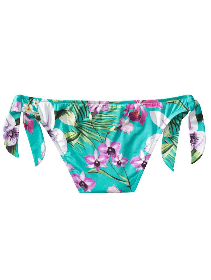 Bikini-Slip Mit floralem Tropenprint