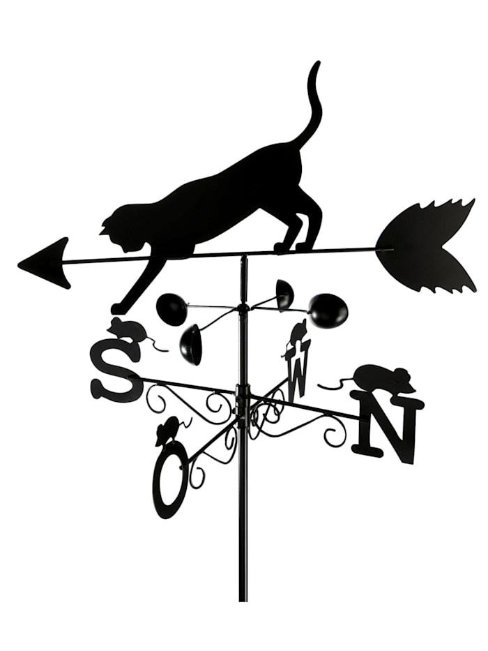 Wenko Wetterfahne Katze, Wetterhahn, Schwarz