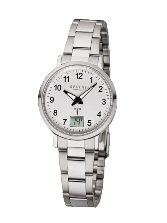 Regent Damen-Funk-Uhr 12030085, Silberfarben