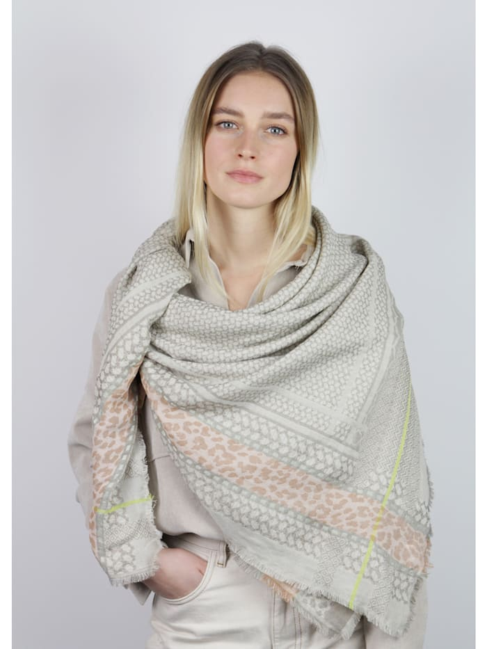 Jacquard-Tuch aus Baumwolle und Modal