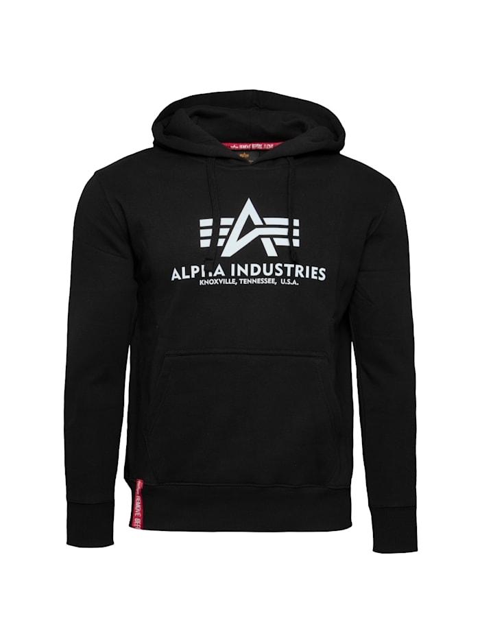 Alpha Industries Kapuzenpullover Basic Hoodie Reflective Print, schwarz