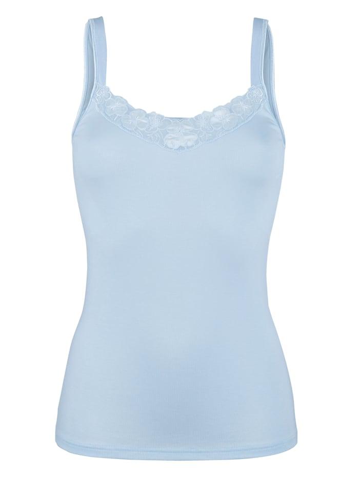 Speidel Vest top with lace, Light Blue